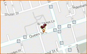 Mondu floral design map thumbnail, 314 Queen Street East Toronto ON M5A 1S8